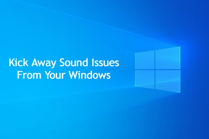 How to fix the sound problem in windows